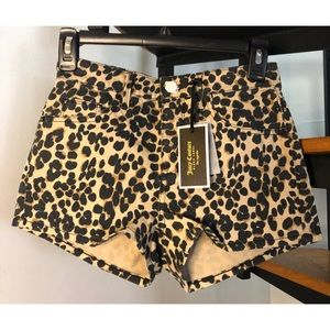 Juicy Couture Leopard Girlfriend Shorts Size 25